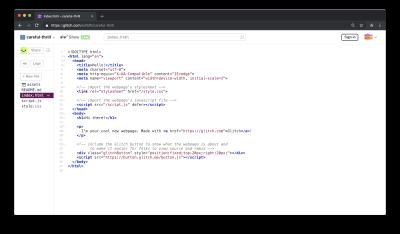 Glitch project index.html file