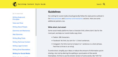 Mailchimp's Content Style Guide