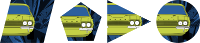 Clipping paths are a fabulous way to implement irregular shapes which catch someone's eye and draw them into a design.