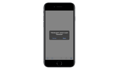 DoorDash ad to app store exit