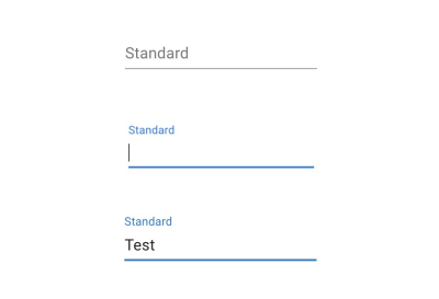 Floating label input example from Google Material UI. Label (previous sibling) is styled based on the input's focus and value state.