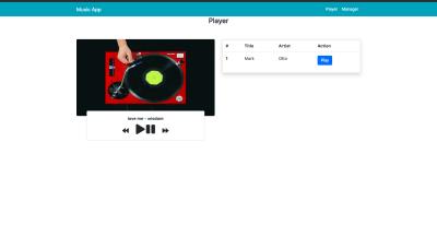 Music player final UI