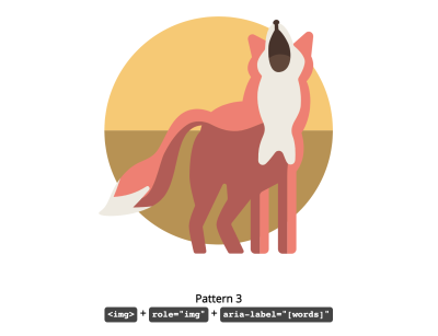 fox illustration presented in the codepen example
