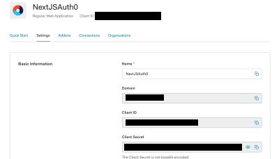 configuration options for the Auth0 Next.js SDK.
