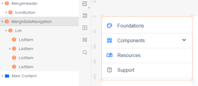 Navigation component and layers