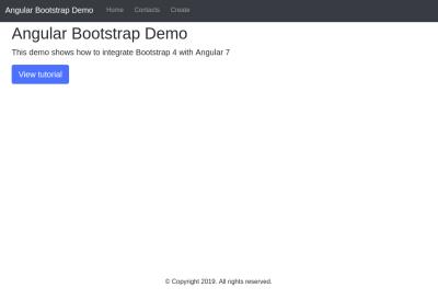 Angular Bootstrap demo: Home page