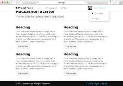 A kickstarter for Node.js applications