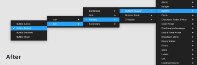 showing the improvements on the instance menu open with ordered sub-menus
