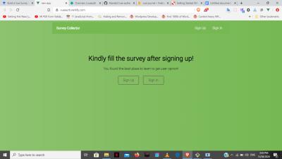 Vue survey app