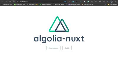 Screenshot of default Nuxt page