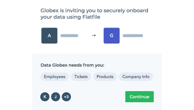 Flatfile Concierge - secure data onboarding request for employee, ticket, product and company info data