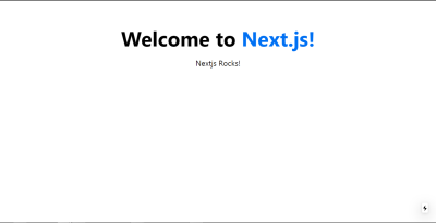 """Next.js landing page containing """"Welcome to Next.js"""" text"""