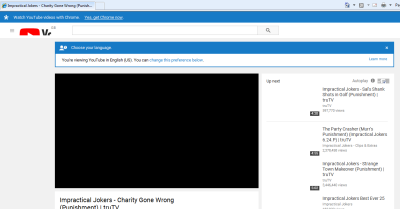 Screenshot of buggy YouTube video page