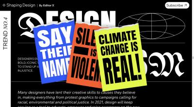 Shaping Design's trends report Trend #4: Design Activism