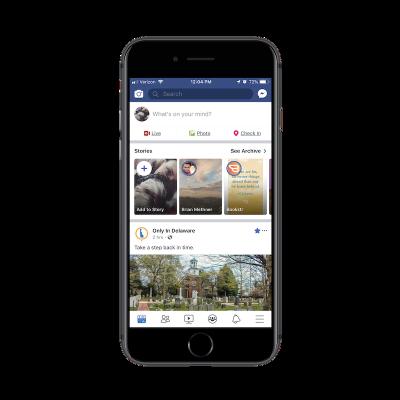 Facebook app search