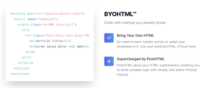 BYOHTML coding with Maizzle