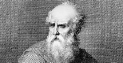 Drawing of Roman architect Marcus Vitruvius Pollio