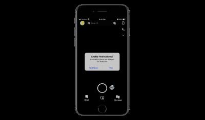 Snapchat push notification request