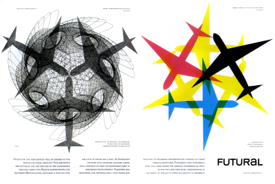 Futural spread designed by Bradbury Thompson, 1962.