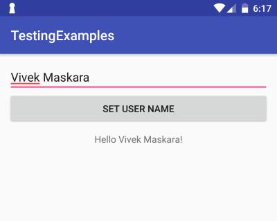Testing example