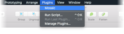 Image showing the Mosaic plugin's UI