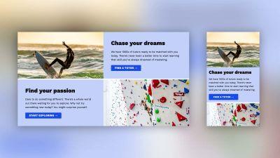 Desktop and mobile designs