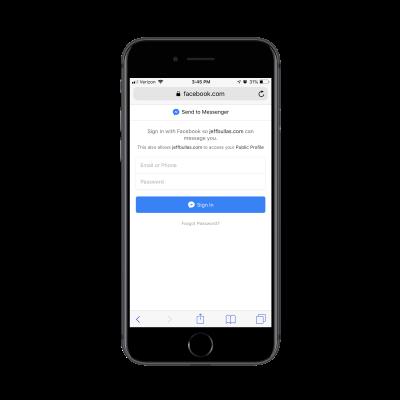 Messenger login request