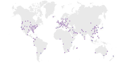 Cloudflare data center map