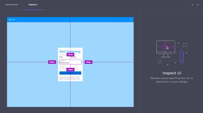 Indigo.Design relative spacing measurements