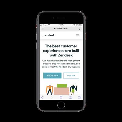 Zendesk free demo button