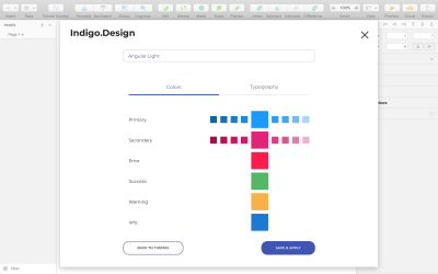 Indigo.Design's Theme plugin allows you to apply style settings for all elements in a design