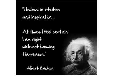 A quote from Albert Einstein about intuition