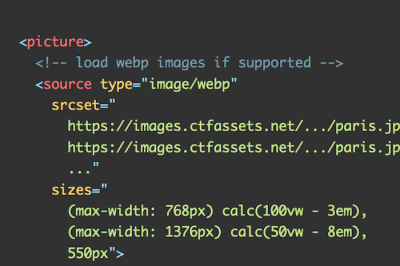 A Snippet For Loading Responsive WebP Images
