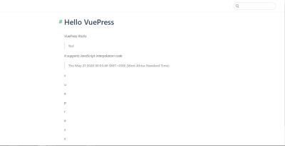 Updated VuePress page