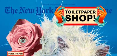 Desktop homepage of art magazine Toiletpaper