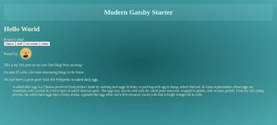 Modern Blog Post Page