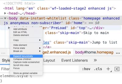 """""""Expand recursively"""" node"""