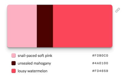 Overly Descriptive Color Palettes