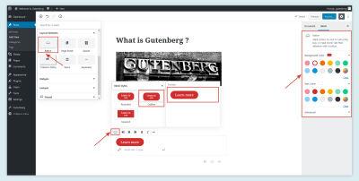 Button Layout in Gutenberg