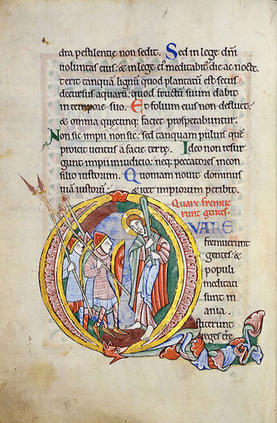 The St. Albans Psalter, England, 12th century.
