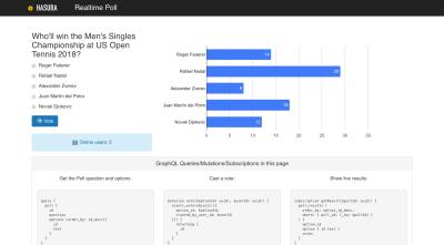 Screenshot of the live poll app