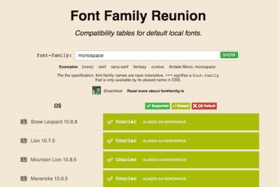 Font Family Reunion