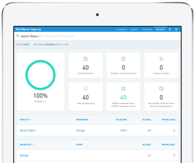 Float helps you keep track of all of a project's hours.