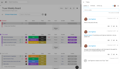 Easy to organize tasks. You can have as many groups as you want.