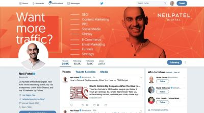 Neil Patel on Twitter