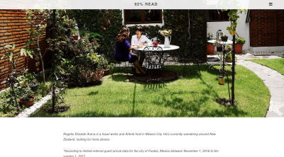 Airbnb's blog uses images that tell a story within themselves.