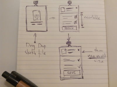 Initial Reduce app wireframe