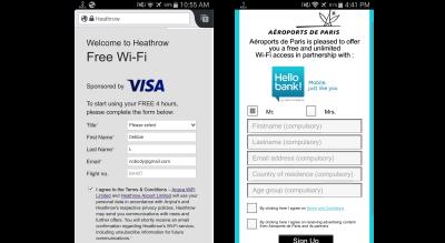 Heathrow and Aeroports de Paris free wifi form