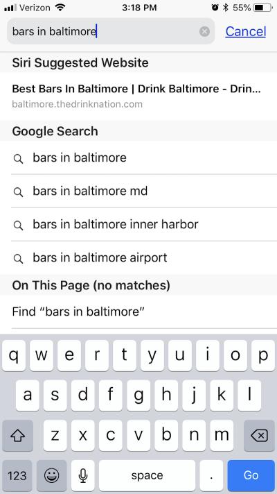 Google auto-populates search questions.