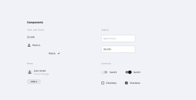Content components examples